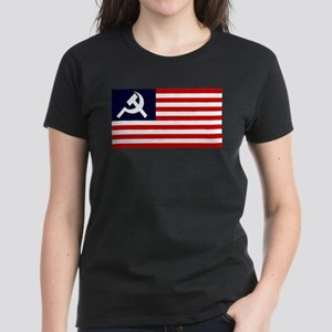 Soviet America Flag Women's Dark T-Shirt