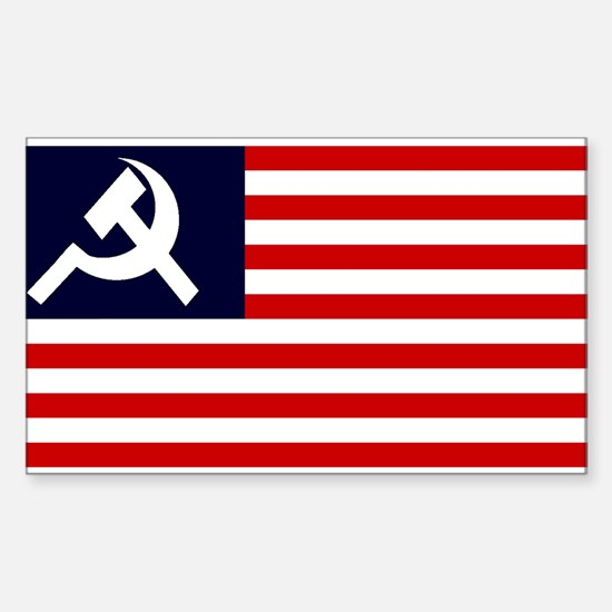 Soviet America Flag Rectangle Decal