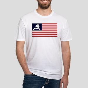 Soviet America Flag Fitted T-Shirt