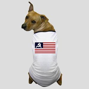 Soviet America Flag Dog T-Shirt