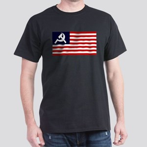 Soviet America Flag Dark T-Shirt