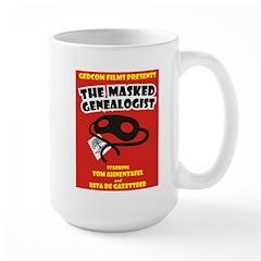 The Masked Genealogist Large Mug