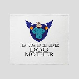 Flat-Coated Retriever Dog Mother Throw Blanket
