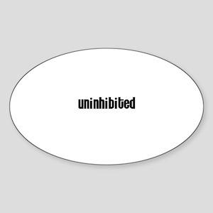Uninhibited Oval Sticker