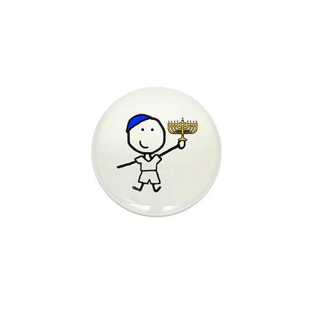 Boy & Hanukkah Mini Button (100 pack)