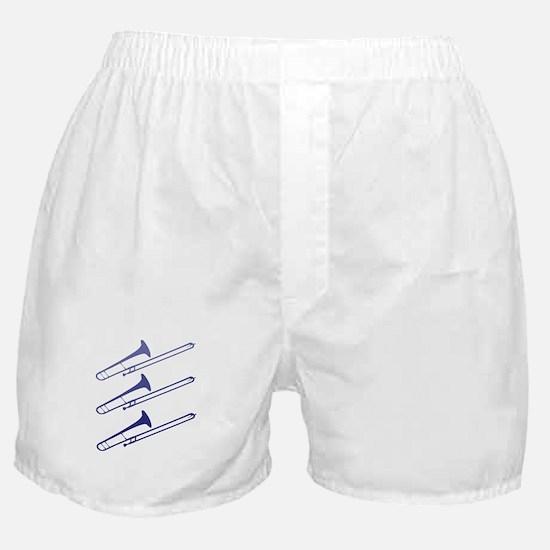 Blue Trombones Boxer Shorts