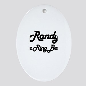 Randy - The Ring Bearer Oval Ornament