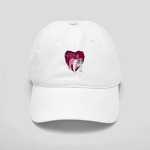 Pink Ribbon Bulldog Cap