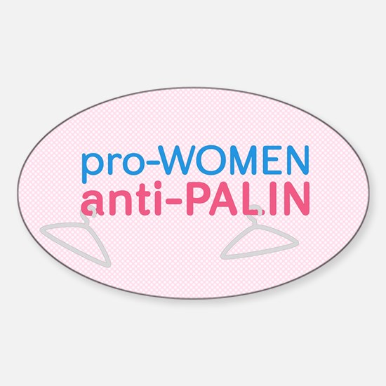 Anti-Palin Pro-Women Oval Bumper Decal