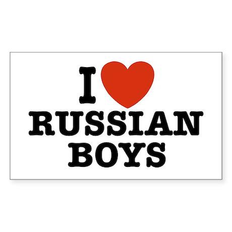 I love russian boys Rectangle Sticker