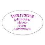 Choose adventure Oval Sticker (10 pk)