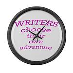Choose adventure Large Wall Clock
