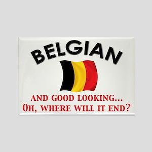 Good Lkg Belgian 2 Rectangle Magnet