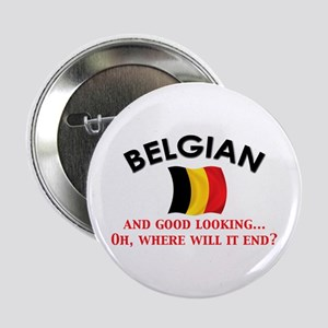 "Good Lkg Belgian 2 2.25"" Button"