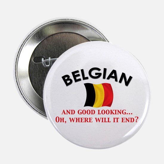 "Good Lkg Belgian 2 2.25"" Button"
