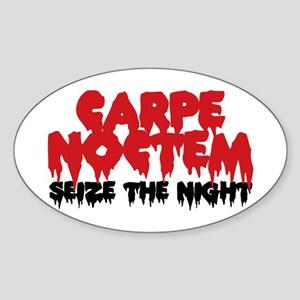 Carpe Noctem Oval Sticker