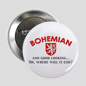 """Good Lkg Bohemian 2 2.25"""" Button"""