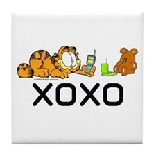 XOXO Pooky Tile Coaster