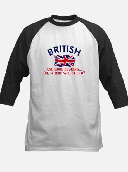 Good Lkg British 2 Kids Baseball Jersey