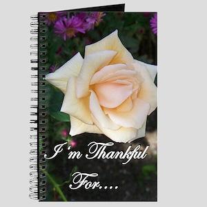 Hanging Rose Gratitude Journal
