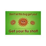 Flu Rectangle Magnet (100 pack)