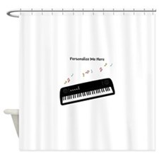 Personalized Keyboard Shower Curtain