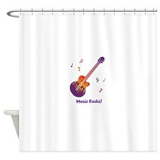 Personalized Fire Guitar Shower Curtain