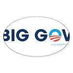 Big Gov Oval Sticker (50 pk)