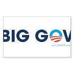 Big Gov Rectangle Sticker 50 pk)