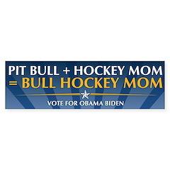 Bull Hockey Mom Bumper Sticker
