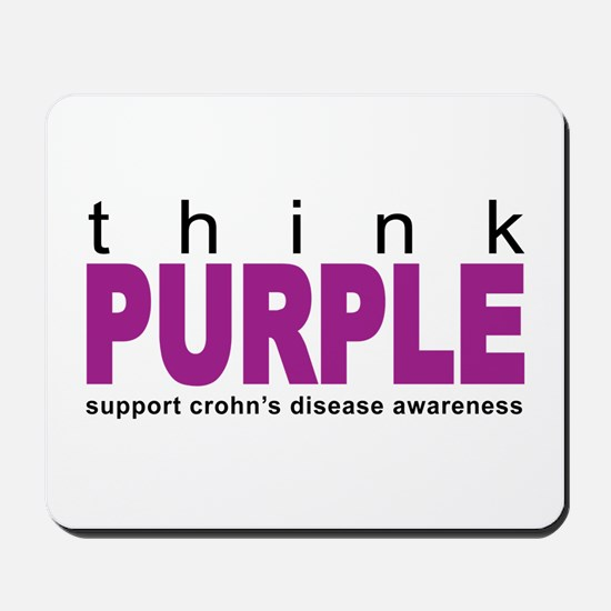 Think Purple: Crohn's Disease Mousepad