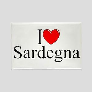 """""""I Love (Heart) Sardegna"""" Rectangle Magnet"""