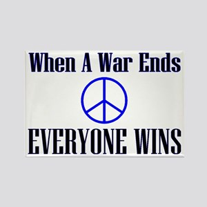 when a war ends Rectangle Magnet