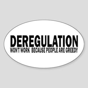 Deregulation Oval Sticker