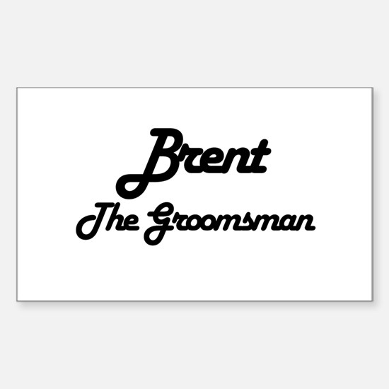 Brent - The Groomsman Rectangle Decal