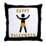 Dick In A Pumpkin Throw Pillow