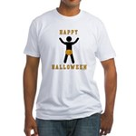 Dick In A Pumpkin Fitted T-Shirt