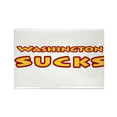 Washington Sucks Rectangle Magnet