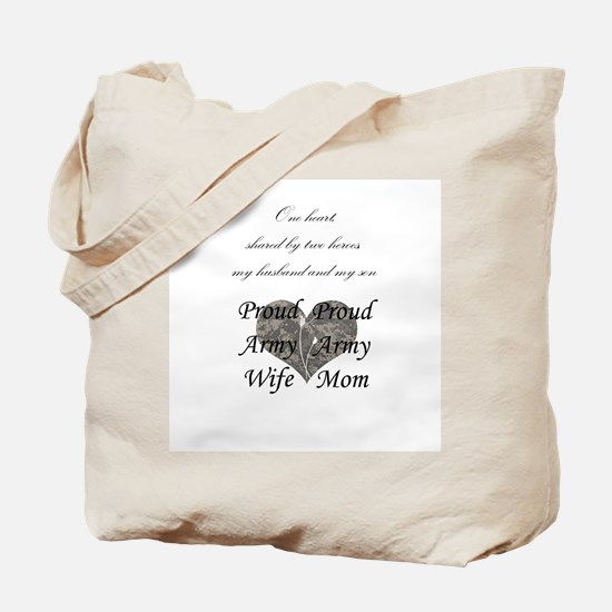 Proud Army wife & mother Tote Bag