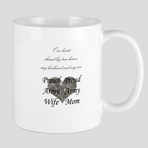 Proud Army wife & mother Mug