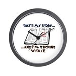 Sticking With It KJV Wall Clock