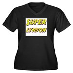 Super lyndon Women's Plus Size V-Neck Dark T-Shirt