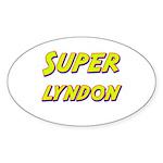 Super lyndon Oval Sticker