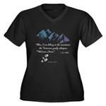 Hiking Mountains Universe Plus Size T-Shirt
