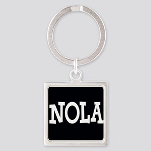 NOLA BLACK AND WHITE Keychains