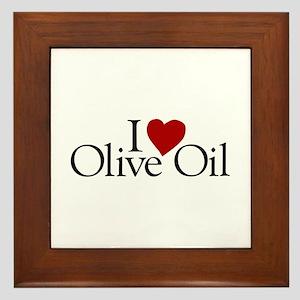 I Love Olive Oil Framed Tile