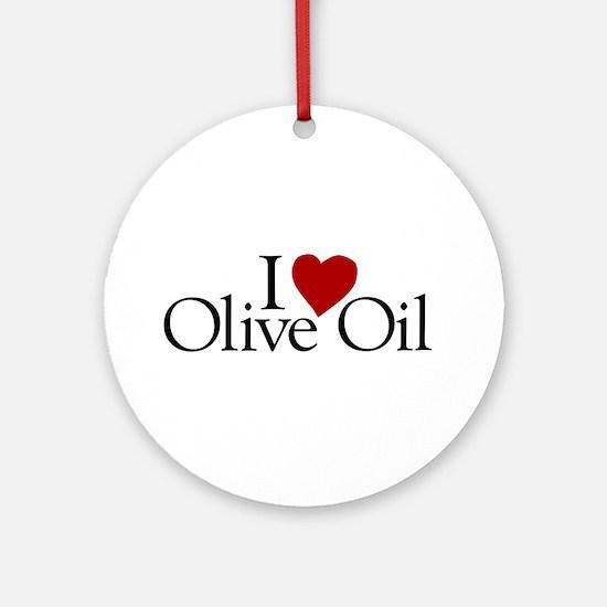 I Love Olive Oil Ornament (Round)