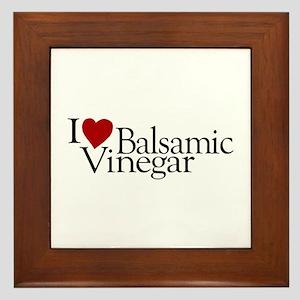 I Love Balsamic Vinegar Framed Tile