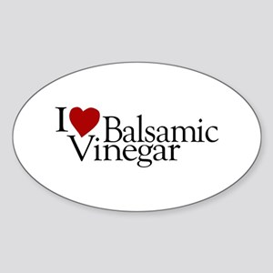 I Love Balsamic Vinegar Oval Sticker