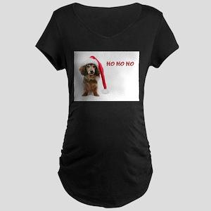Ho Ho Ho Maternity Dark T-Shirt